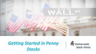 Getting Started in Penny Stocks