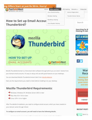 How to Set Up Mozilla Thunderbird Email?