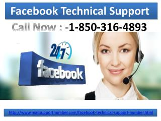 Do you want to experience our Facebook Technical Support 1-850-316-4893 services?