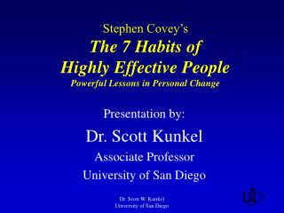 Stephen Covey's The 7 Habits of Highly Effective People Powerful Lessons in Personal Change