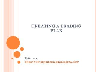 CREATING A TRADING PLAN