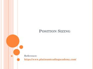Position Sizing
