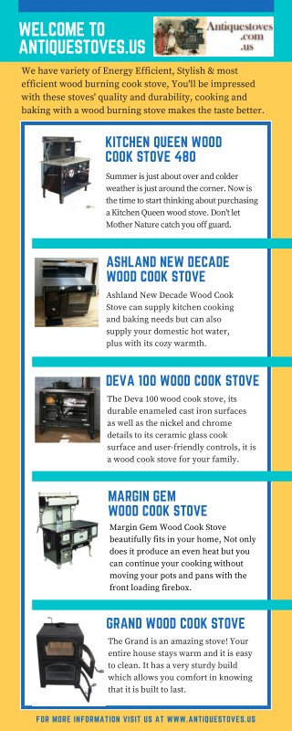 Purchasing a Wood Burning Stoves and Wood Cook Stove by Antiquestoves
