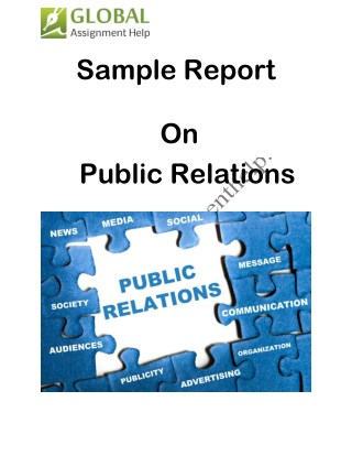 Sample Report on Public Relations By Global Assignment Help