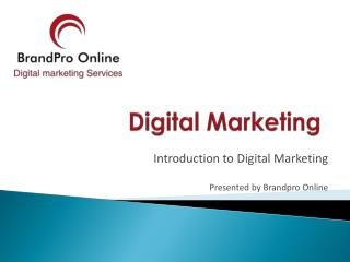 BrandPro Online - Digital Marketing |Email Marketing|SEO|SMO