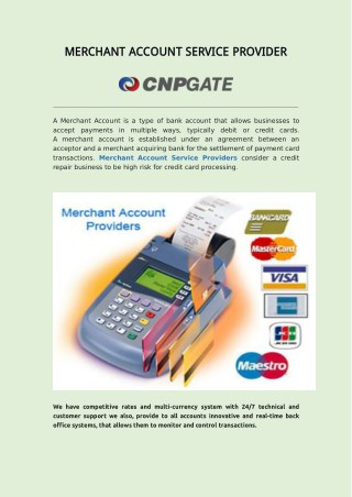 CNP GATE- Merchant Account Service Provider