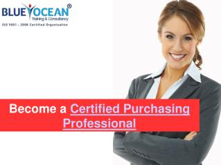 Be a Certified Purchasing Professional