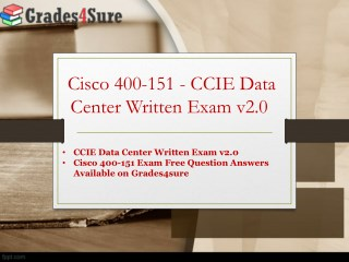 Get Latest Cisco 400-151 Exam Questions