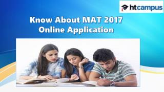 Know About MAT 2017 Online Application