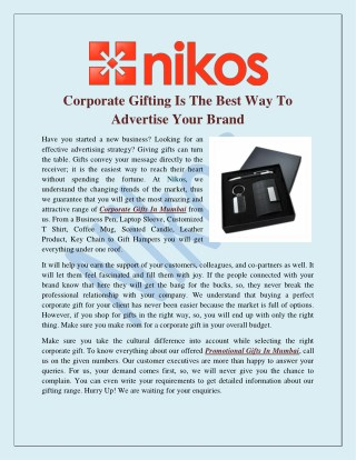 Corporate Gifting Is The Best Way To Advertise Your Brand