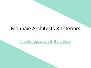 Dining  Room  & Living Room Interior Designers in Bangalore