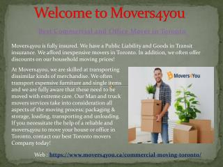Professional Office Movers Toronto | Commercial & Office Moving - Movers4you