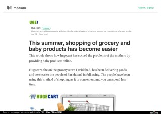 This summer, shopping of grocery and baby products has become easier