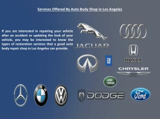 Auto Body Shop In Los Angeles