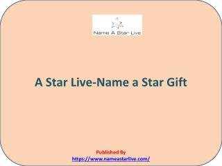 Name a Star Gift