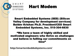 Embedded system design and services -smartembeddedsystems.com- industrial automation devices- modem for hart- hart hardw