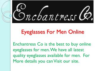 Eyeglasses For Men Online