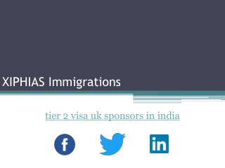 tier 2 visa uk sponsors in india - XIPHIAS