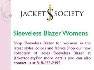 Sleeveless Blazer Womens