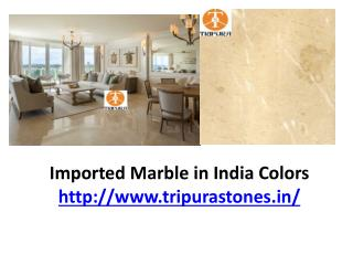 Imported Marble in India Colors