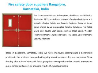 Fire doors manufacturers in bangalore