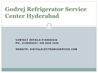 Godrej Refrigerator Service Center Hyderabad