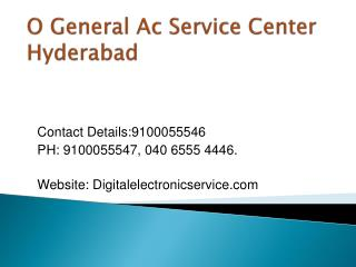 O General Ac Service Center Hyderabad