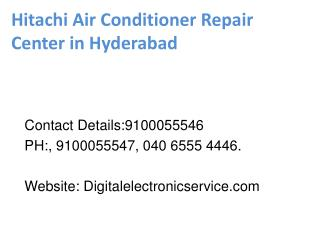 Hitachi Air Conditioner Repair Center in Hyderabad