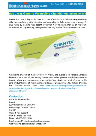varenicline chantix 1 mg tablet