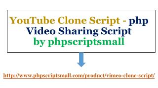PHP Video Sharing Script |phpscriptsmall | YouTube Clone Script