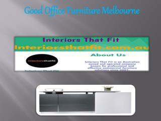 Good Office Furniture Melbourne