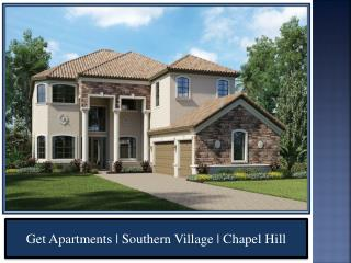 Get Apartments | Southern Village | Chapel Hill