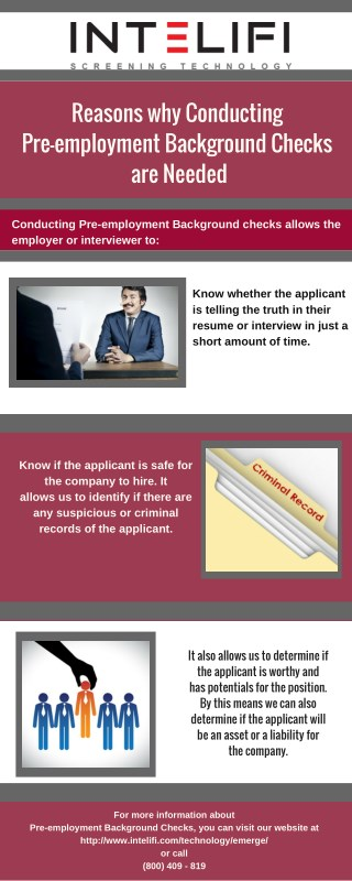 Reasons why Conducting Pre-employment Background Checks are Needed