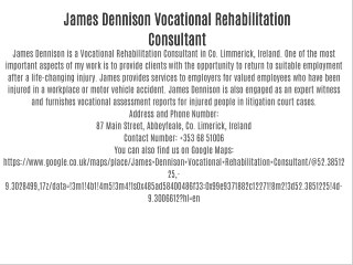 James Dennison Vocational Rehabilitation Consultant