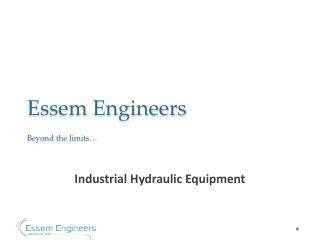 Cost Effective Industrial Hydraulic Equipment