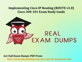 Download 300-101 Exam Dumps - Cisco 300-101 Dumps Questions RealExamDumps