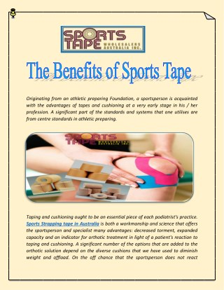 The Benefits of Sports Tape