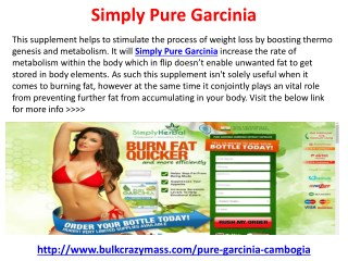Simply Pure Garcinia Weight Loss Supplement Free Trial