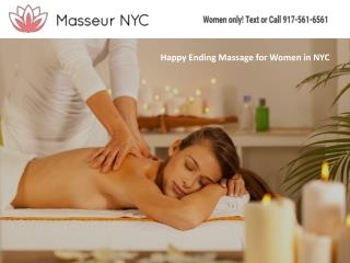 Happy Ending Massage for Women in NYC