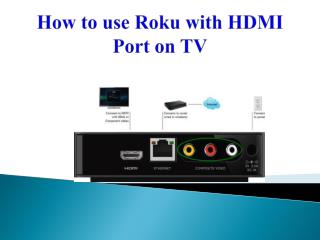 How to use Roku with HDMI Port on TV