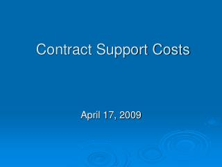 Contract Support Costs