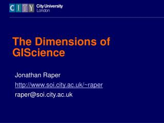 The Dimensions of GIScience