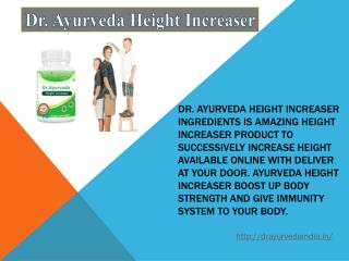 Dr. Ayurveda Height Increaser