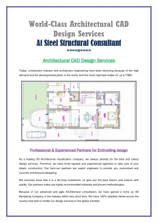 World Class Architectural CAD Design Services