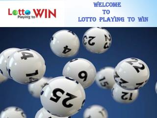 Lotto Playing to Win E-Book