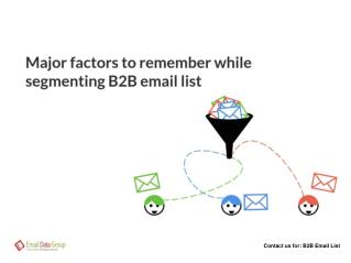 B2B Email Lists Segmentation
