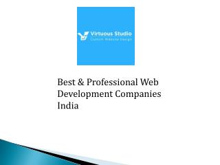 Best and Top Web Development Companies India