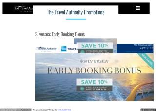 Silversea: Early Booking Bonus