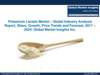 Potassium Lactate Market Share, Segmentation, Report 2024