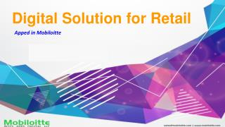 Digital solution for Retail